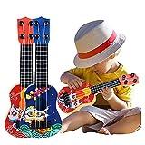 YUGHGH Ukulele, Kindergitarre, aus Holz, für Kinder Gitarre Anfänger Klassische Ukulele Gitarre pädagogisches Musikinstrument Spielzeug Weihnachten Geburtstags Geschenk (Blue)