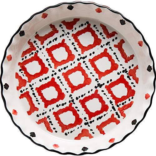 Cedmon Kuchenform aus Keramik für Ofen, 50,8 cm, rund, Ananas