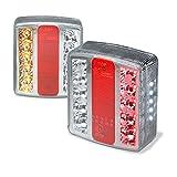 JOM Car Parts & Car Hifi GmbH 83058 Pilotos de Remolque LED, Set de Luces traseras para Caravana o Remolque, 12 voltios, con Certificado E