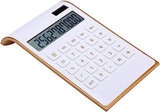 Calculator, Slim Elegant Design, Office/Home Electronics, Dual Powered Desktop Calculator, Solar Power, 10 Digits, Tilted ...