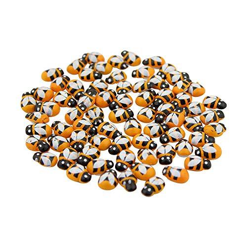 300 piezas Mini Abeja Madera Mariquita Esponja Autoadhesivas Pegatinas Nevera/Pared Pegatina niños Scrapbooking bebé Juguetes(1 * 1.3cm)