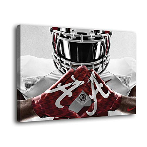 Alabama Crimson Football Home Full HD Personalized Customized Canvas Art Wall Art Wall Decor.1