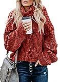 FARYSAYS Women's Turtleneck Sweater Long Sleeve Casual...