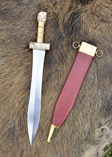 Parazonium - Griechisch-Römisches Kurzschwert mit Scheide echt Stahl Griechen Römer Antike