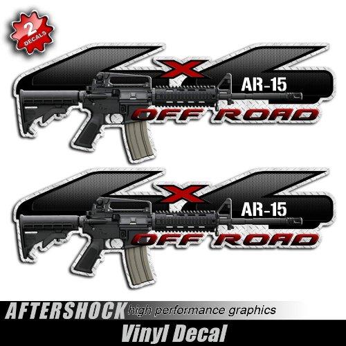 Aftershock 4x4 Ar-15 F-150 Truck Decals Military Rifle Gun Sticker