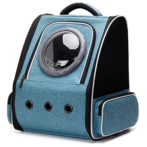 Pet Carrier Backpack for Large Cat and Small Puppy, Space Capsule Bubble...