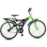 Hero Ranger DTB Steel Single Speed Mountain Bike, Adult 26T (Black/Green)