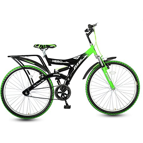 Hero Ranger DTB Steel Single Speed Mountain Bike, Adult 26T...