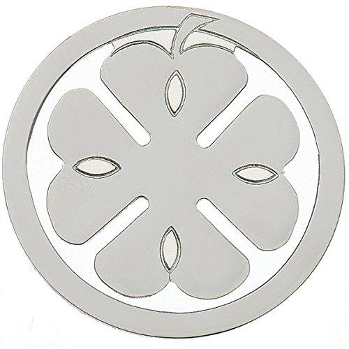 silberkanne Lesezeichen Geldklammer Kleeblatt 5 cm Silber Plated versilbert in Premium Verarbeitung