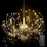 Starburst Light, Battery Chandelier Lights 180 LEDs | Umbrella Fairy Light | Battery Operated Firework Light | Hanging Decorative Lights for Party Garden Patio Bedroom,DIY Indoor/Outdoor Using