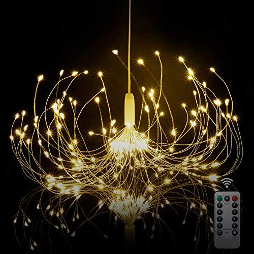 HEJOR Starburst Light, Battery Chandelier Lights 180 LEDs | Umbrella Fairy Light | Battery Operated Firework Light | Hanging Decorative Lights for Party Garden Patio Bedroom,DIY Indoor/Outdoor Using