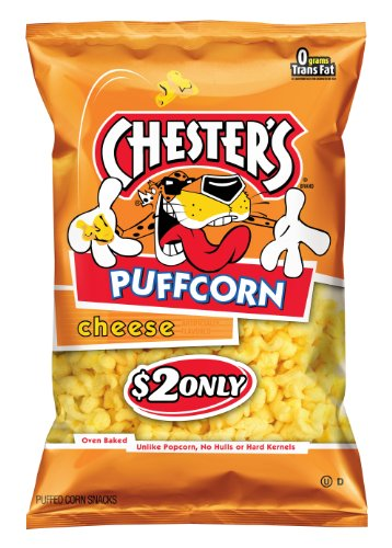Chester's Puffcorn Snacks, Cheese, 4.5 Ounce (Pack of 6)
