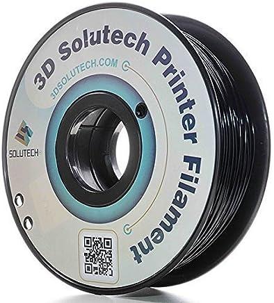 3D Solutech Real Black 3D Printer PLA Filament 1.75MM Filament, Dimensional Accuracy +/- 0.03 mm, 2.2 LBS (1.0KG) - PLA175RBLK