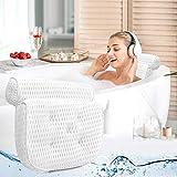 Eligara Badewannenkissen Badewanne & Spa Kissen mit 4D-Air-Mesh-Technologie und 7 Saugnäpfen. Stützfunktion für Kopf, Rücken, Schulter, Nacken. Geeignet für Badewannen, Whirlpools und Home Spa