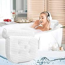 Almohada de Baño - Regalos Originales para Mujer – Reposacabezas Cojin Bañera