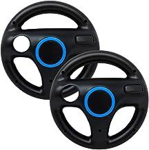 Old Skool Mario Kart Racing Wheel Compatible with Wii and Wii U 2 Pack - Black