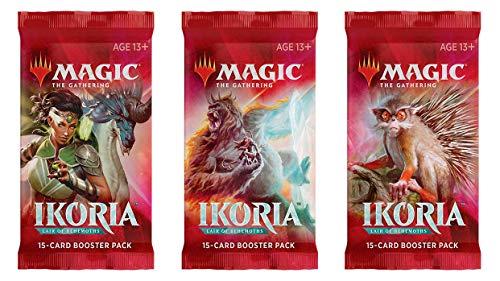 MTG 3 (Three) Booster Packs of Magic: The Gathering: Ikoria: Lair of Behemoths - 3 Booster Packs Booster Pack Draft Lot Bundle