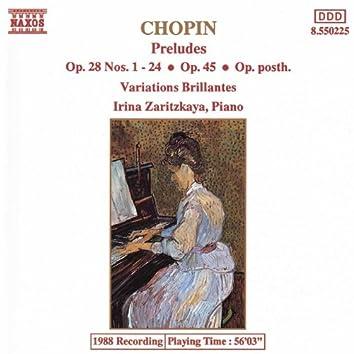 CHOPIN: Complete Preludes / Variations Brillantes