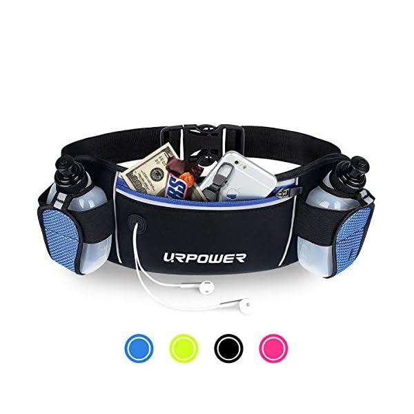URPOWER Running Belt Multifunctional Zipper Pockets Water Resistant Waist Bag, with...