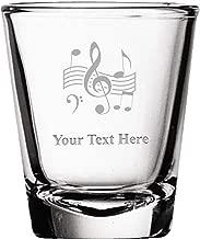 music shot glasses