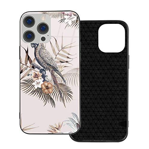 MEUYGOFLZ Kompatibel mit iPhone 12 Pro Max Hülle, Full Body Rugged Case, Soft TPU Glas Case für iPhone 12 Pro Max 6,7 Zoll, Aras Tropical Mockup Illustration