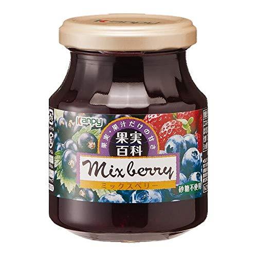 《セット販売》 加藤産業 カンピー 果実百科ミックスベリー 砂糖不使用 (190g)×12個セット ジャム