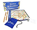 Super Scrabble - The Super-Sized Version of the Greatest Word Game of All Time - 2 to 4 Players - Ages 8 and Up