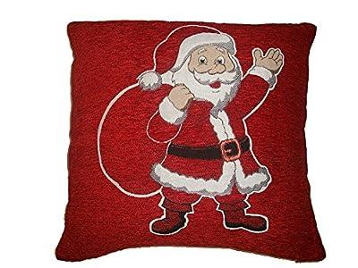 Novelty Christmas Santa & Christmas Tree Cushion Cover