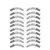 Bluelans 10 Paar Unterwimpern Falsche künstliche Wimpern Schwarz Eyelasches Wimpernverlängerung...