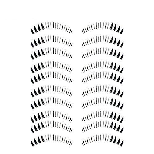 Bluelans® 10 Paar Unterwimpern Falsche künstliche Wimpern Schwarz Eyelasches Wimpernverlängerung Make-up (HX-5)