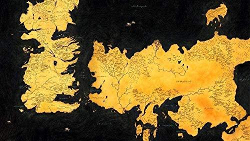 Tlmydd 1000 Piezas Puzzle Rompecabezas Para Adultos Westeros Mapa Papel Puzzle Juegos Educativos Desafío De Cerebro Rompecabezas Conjuntos Niños Niños Adolescentes Familia Día de San Valentín presente