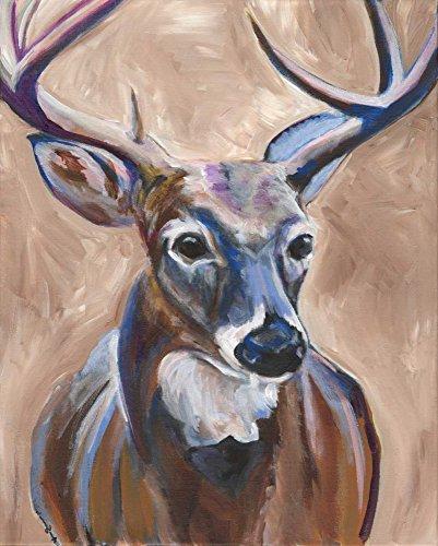 Feeling at home Kunstdruck-auf-GEROLLTE-LEINWAND-cm_119_X_94-Seay-Anne-Lodge-Cabin-Camping-Buck-Tiere-Bild-auf-LEINWAND-380gr-100%-Baumwolle