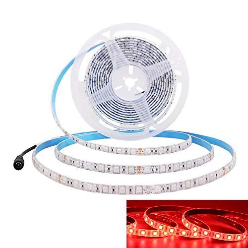 JOYLIT 24V Striscia LED Rosso, 5M Flessibile SMD5050 300 LEDs IP65 Impermeabile per Decorazione di Armadio da Cucina, Camera da letto