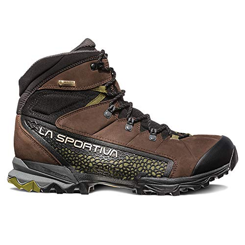 La Sportiva NUCLEO HIGH GTX Hiking Shoe, Chocolate/Avocado, 44.5