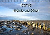 Roemoe - Straende und Duenen (Wandkalender 2022 DIN A4 quer): Roemoe, die suedlichste daenische Wattenmeerinsel, ist mit seinen kilometerbreiten, mit dem Auto befahrbaren Straenden ein beliebtes Urlaubsziel. (Monatskalender, 14 Seiten )