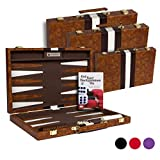 Get The Games Out Top Backgammon Set - Classic Board Game Case - Best Strategy & Tip Guide - Available in Small, Medium...