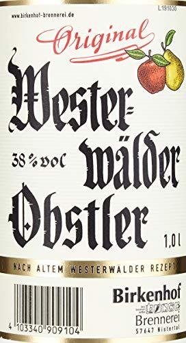 BIRKENHOF Brennerei | Westerwälder Obstler | (1 x 1l ) - 38 % vol. - 4
