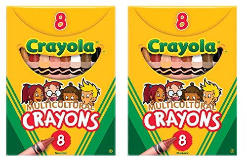Crayola Multicultural Crayons 8 Count (2 Pack)