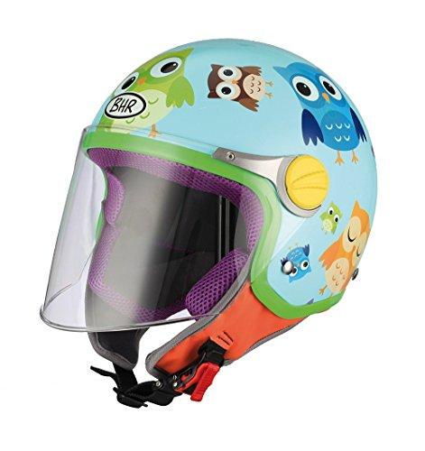 BHR 94108 Motorrad Helm Kid 713, Motiv Eule, 51/52