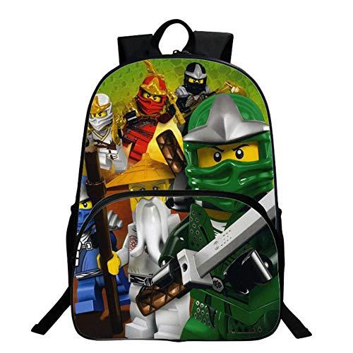 Kinder Rucksack, Ninjago Schultasche, Kindergarten Cartoon Anime Rucksack Große Kapazität Multifunktionsrucksack C