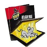 KLMM Trampas de ratón Pegamento, trampas de Ratones Tableros pegajosos con Fuerza Adhesiva Que el Trabajo capturando la araña de cucarachas de Rata Interior y al Aire Libre (Size : 2pcs)