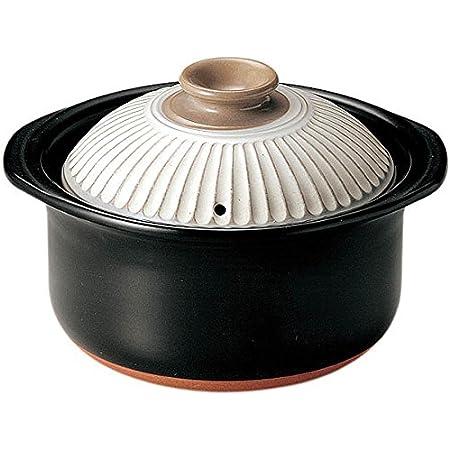 萬古焼 銀峯陶器 菊花 ごはん土鍋 (3合炊き, 粉引)