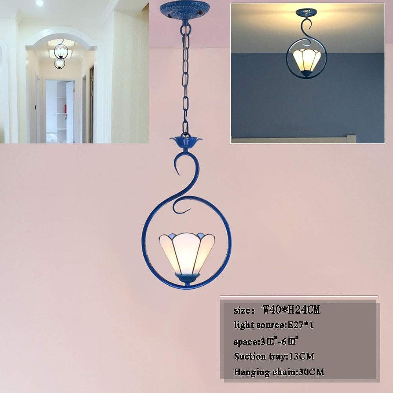 LXTX Hngendes Lampenmodernes Wohnzimmer des mediterranen Restaurants Europischer Bar Gang Single Head Kreative Persnlichkeit, 001, B