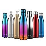CMXING Doppelwandige Thermosflasche 500 mL mit Tasche BPA-Frei Edelstahl Trinkflasche Vakuum...