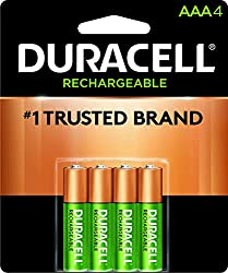 Duracell - Rechargeable AAA Batteries - long lasting, all-purpose Triple A battery for household and business - 4 coun