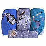 Pingüino/Oso polar/Seal de baño con capucha Juego de toallas, 3Pack,...