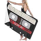 If Not Retro Audio Kassette Musik Strandtuch Bad Wickel Dusche Handtuch Stranddecke Für Sport Schwimmbad Badezimmer