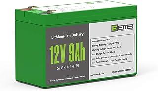 EEMB 12V 9AH 充電式電池 高性能 シールドバッテリー 100Wh 二次電池 リチウムイオン電池 アウトドア、車中泊、バイク電源 メーカー直販