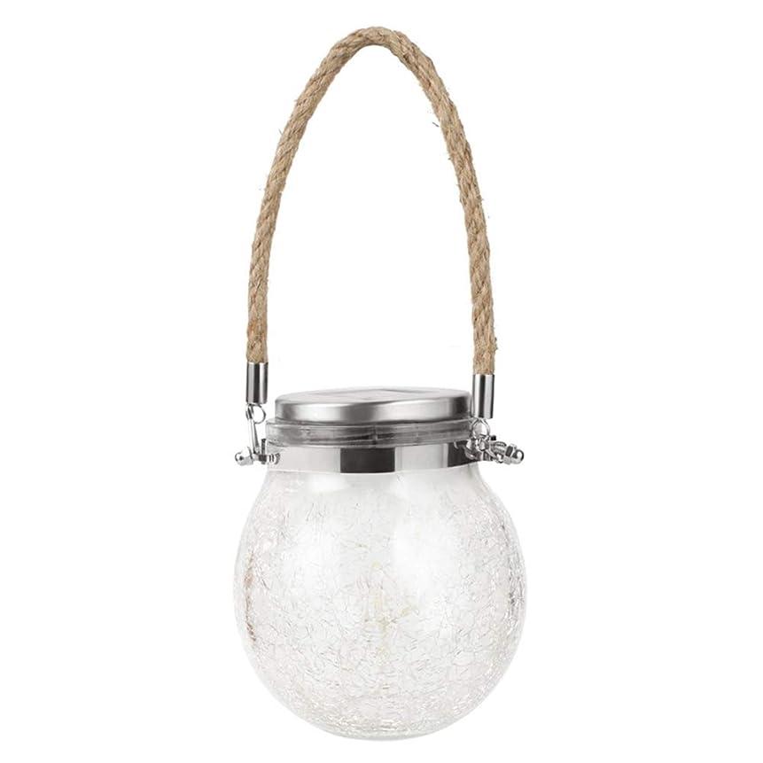 教養があるグリップ実験ランプを願い屋外ソーラーひびが入ったガラス、防水景観ナイトライト、ランプ装飾ランプを願い庭クラック,Warm light