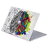 MasiBloom Top Side Laptop Sticker Decal for 13' 13.5 inch Microsoft Surface Laptop 3 & 2 & 1 (2019/18/17 Released), Not Compatible with Surface Book (for Surface Laptop, Brain)